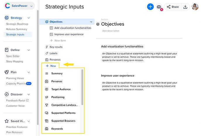 Strategic Inputs Add New
